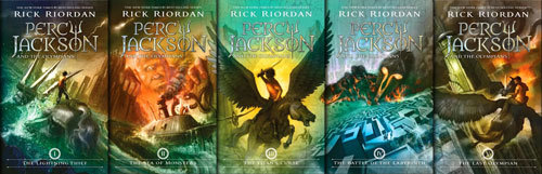 Percy Jackson Series Covers
