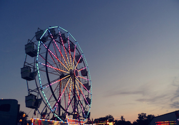 The fair is a fun way to spend a summer evening!