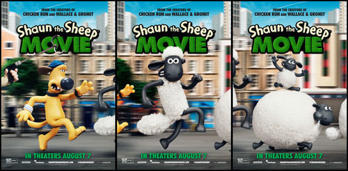 Three New Character Posters from Shaun The Sheep Movie