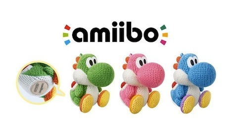 The new plush Yoshi Amiibo is ridiculously cute.