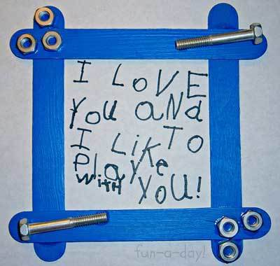 Decorate a frame to show your Dad how much you love him