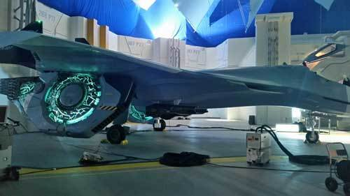 Human Hybrid Fighter Jet enhanced with alien technology