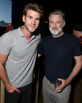 Liam with Bill Pullman-President in the first film