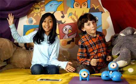 Dash and Dot Show Stars Wally and Mimi