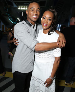Jessie with Vivica A. Fox who plays his mom