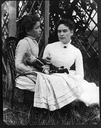 "Anne Sullivan teaches Helen the word for ""doll"""