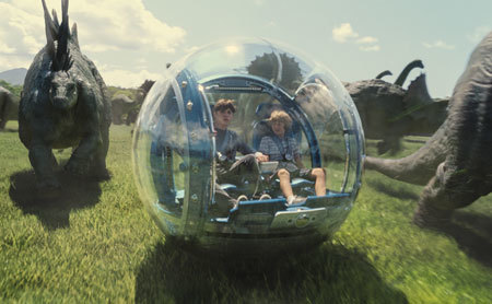 Gray (Ty) and Zach in the fun Gyrosphere