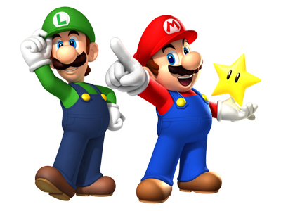 Brother Luigi and Mario