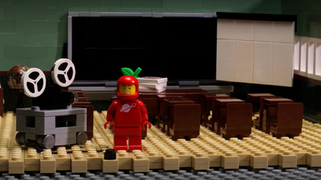 Minifig narrator (voice of Jason Bateman) asks us to watch