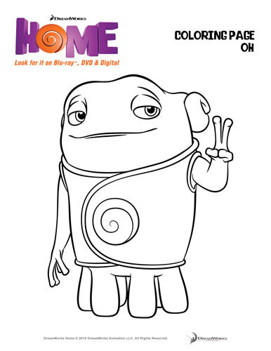 Coloring page Oh