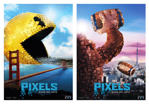 Pixels Posters featuring PAC-Man and Donkey Kong