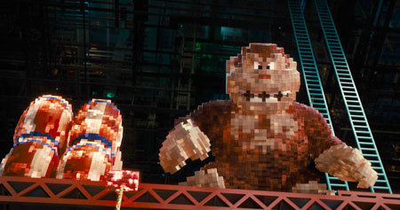Donkey Kong repares to bomb the city
