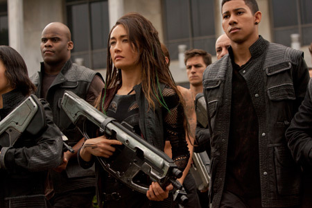 Tori (Maggie Q) is ready for action