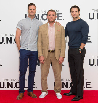 Armie and Henry with director Guy Ritchie