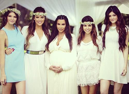Kendall and Kylie with their Kardashian sisters