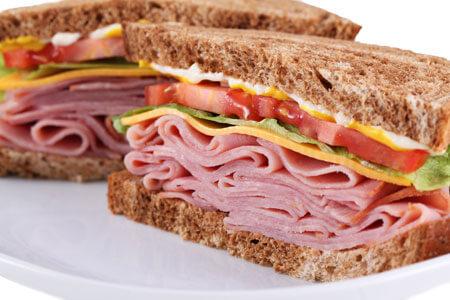 Ham is a popular sandwich meat