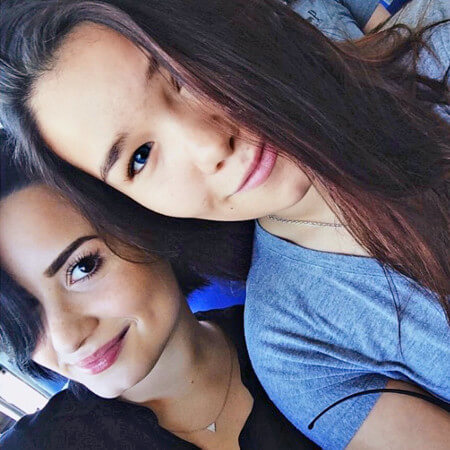 Demi and her sister Madison