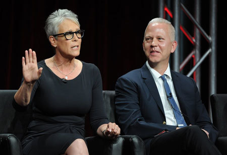 Jamie Lee Curtis and show creator Ryan Murphy