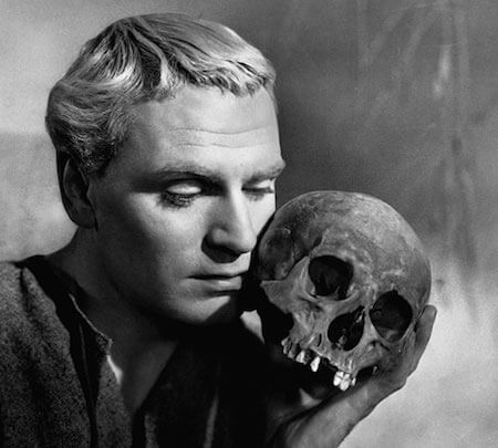 Laurence Olivier played the melancholic Hamlet in Shakespeare's famous play