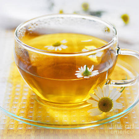 Chamomile tea is often used to calm and relax