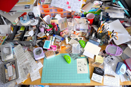 Does your desk look like this? It doesn't have to!