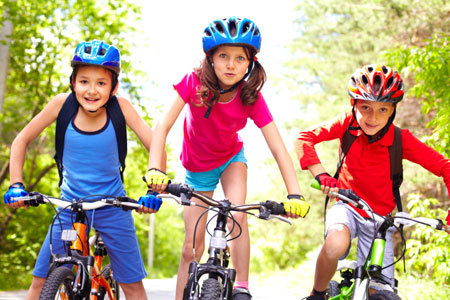 Bike to school with your friends