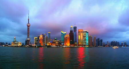 Check out the amazing Shanghai skyline!