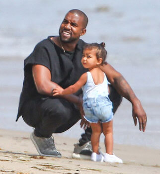 Kanye with daughter North West