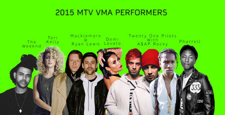 2015 VMA Performer Line-up
