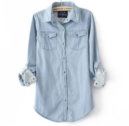 Can't go wrong with a denim shirt!