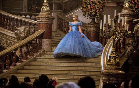 Cinderella makes a grand entrance