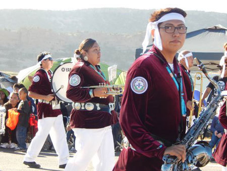 Teen Navajo band members