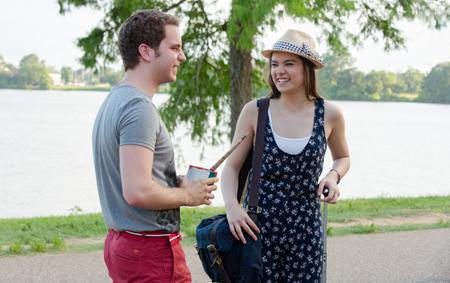 Benji flirts with Emily (Hailee Steinfeld)