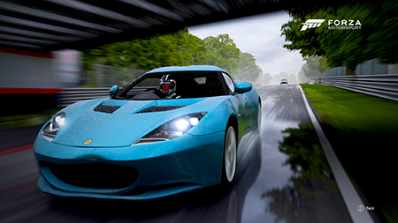 High speed wet road racing!