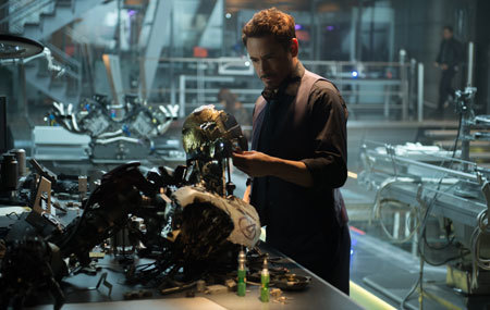 Stark works on Ultron