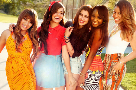 Fifth Harmony is: Ally, Camila, Lauren, Normani and Dinah