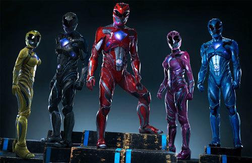 Trini the Yellow Ranger, Zack the Black Ranger, Jason the Red Ranger, Kimberly the Pink Ranger and Billy the Blue Ranger