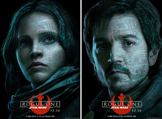 Jyn and Cassian Character Posters