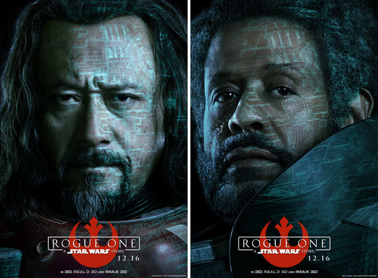Baze and Saw Character Posters