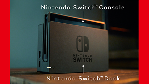 Nintendo Switch's dock and main console.