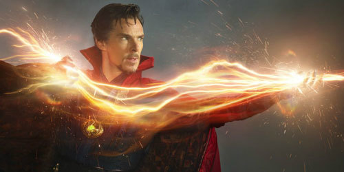 Doctor Strange (Benedict) casting a spell