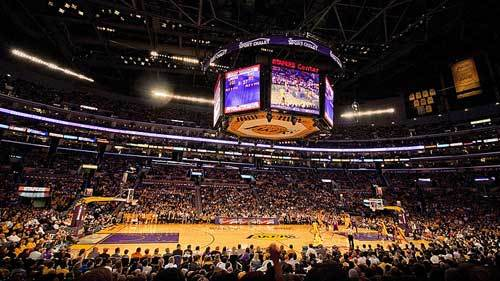 A Lakers game at Staples Center