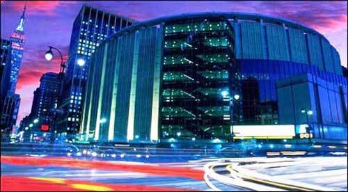 Madison Square Garden at night