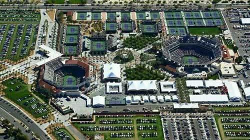 Birds eye view of  Indian Wells Tennis Garden