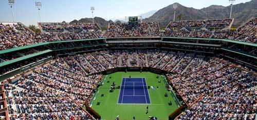 Center court at the Indian Wells Tennis Garden