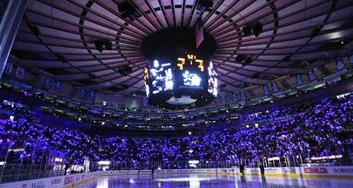 MSG is home for the New York Rangers