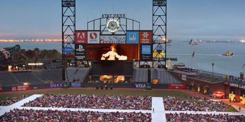 AT and T Park is home for the San Francisco Giants