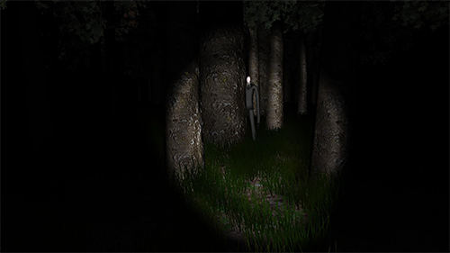 Slenderman watches from the woods.