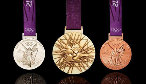 Olympic Gold, Silver and Bronze medals