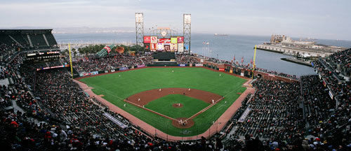 AT and T Park is located in South Beach neighborhood of San Francisco